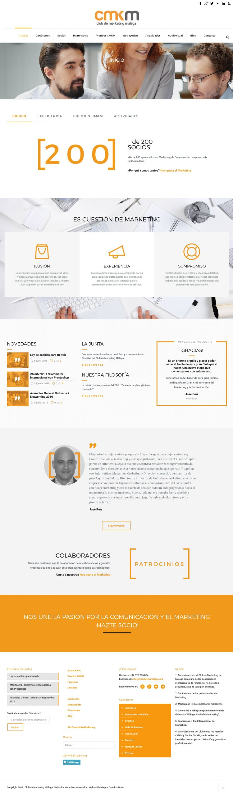 Diseño Web Club de Marketing Málaga