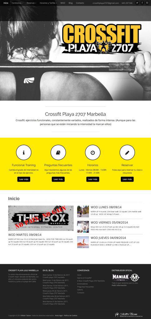 Diseño Web Crossfit Playa 2707 Marbella