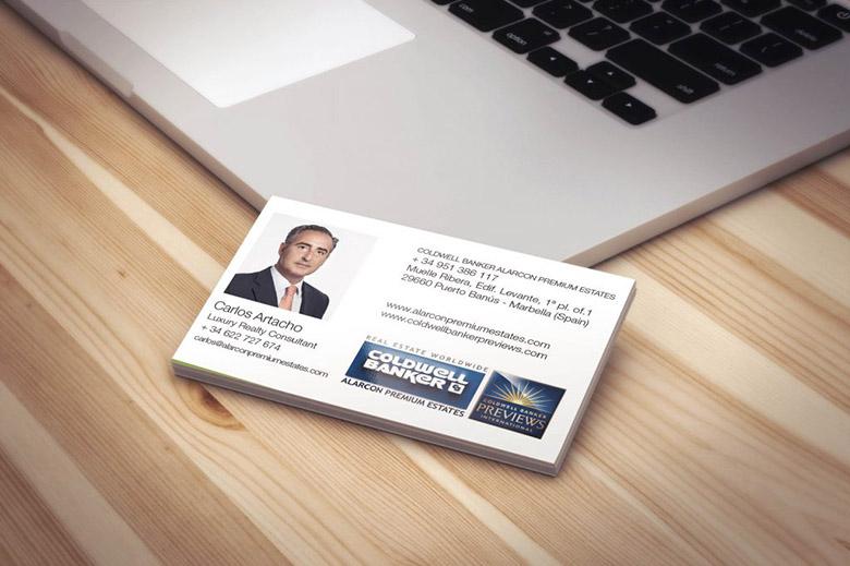 Diseño tarjetas de visita APE
